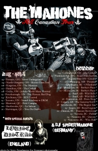 The Mahones - 2013 Fall Canada Tour Poster-Recovered
